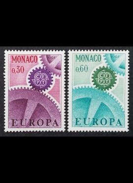 Monakas, pilna serija, MiNr 870-871 MNH**