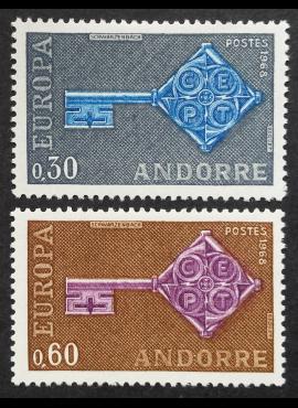 Andora (prancūzų), pilna serija, MiNr 208-209 MNH**