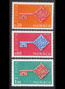 Monakas, pilna serija, MiNr 879-881 MNH**