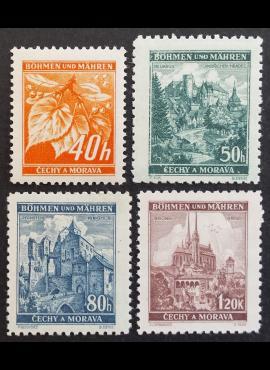 Vokietijos Reichas, Čekijos okupacija, pilna serija, MiNr 38-41 MNH**