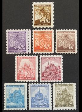 Vokietijos Reichas, Čekijos okupacija pilna serija, MiNr 65-72+64 MNH**