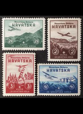 Kroatija, pilna serija, MiNr 70-73 MLH*
