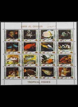 JAE, Umm Al Qiwain, pilna oro pašto serija, MiNr 1322-1337 (A) Used (O)
