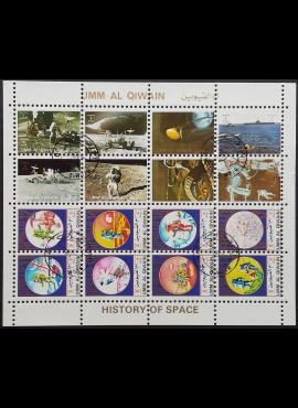 JAE, Umm Al Qiwain, dvi pilnos oro pašto serijos, MiNr 1202-1209+930-937 (A) Used (O)