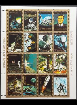 JAE, Ajman States, pilna oro pašto serija, MiNr 2637-2652 Used (O)