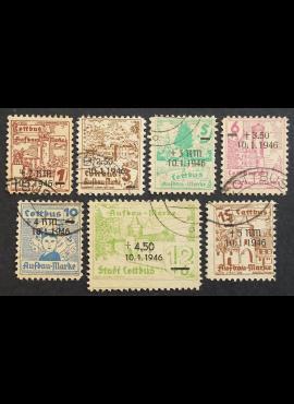 Vokietijos lokalus paštas, Kotbusas, pilna serija MiNr 25-31 Used (O)