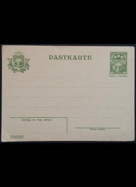 Latvija, tarpukario pašto kortelė