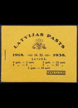 Latvija, kišeninė knygelė su MiNr 264-267, 269 MNH**