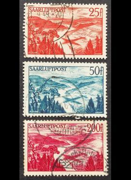 Saras, pilna oro pašto serija MiNr 252-254 Used (O)
