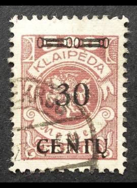 Klaipėda (Memel), abartas, MiNr 172AI Used (O)