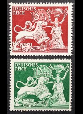 Vokietijos Reichas, pilna serija, MiNr 816-817 MH*