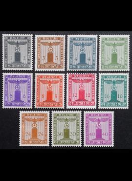 Vokietijos Reichas, tarnybiniai, pilna serija, MiNr 155-165 MLH*