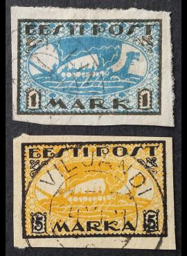 Estija, pilna serija, MiNr 12-13 (x/y) Used (O)