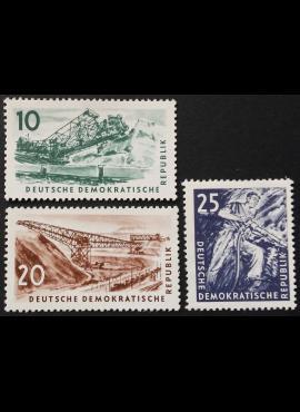 Vokietijos Demokratinė Respublika VDR, pilna serija, MiNr 569-571 Used (O)