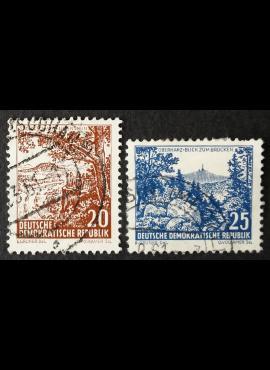 Vokietijos Demokratinė Respublika (VDR), pilna serija, MiNr 815-816 Used (O)