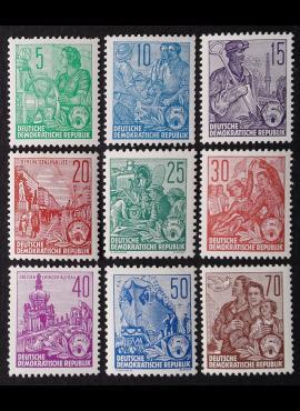 Vokietijos Demokratinė Respublika (VDR), pilna serija MiNr 577-585 (A/B) MNH**