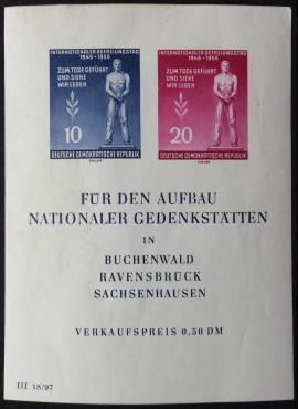 Vokietijos Demokratinė Respublika (VDR), blokas Nr. 11 X I, MiNr 459-460 (A) MNH**