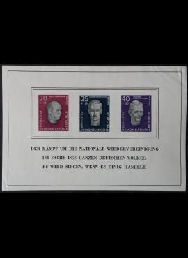 Vokietijos Demokratinė Respublika (VDR), blokas Nr. 15, MiNr 606-608 (B) MLH*
