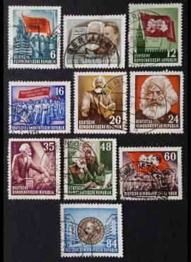 Vokietijos Demokratinė Respublika (VDR), pilna serija, MiNr 344-353 Used (O)