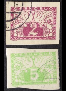 Čekoslovakija, pilna serija, MiNr 11-12 Used (O)