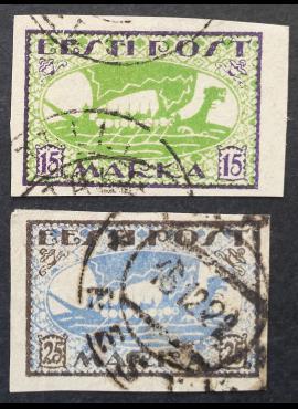 Estija, pilna serija, MiNr 23-24 (B) Used (O)