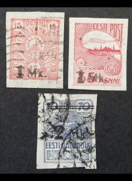 Estija, pilna serija, MiNr 18-20 Used (O)