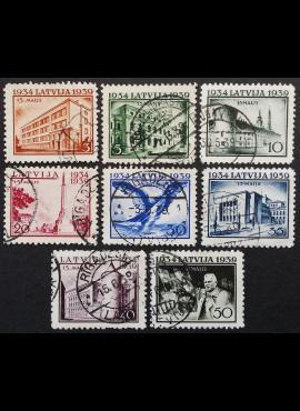 Latvija, pilna serija, MiNr 271-278 Used (O)