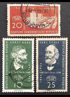 Vokietijos Demokratinė Respublika (VDR), pilna serija MiNr 545-547 Used (O)