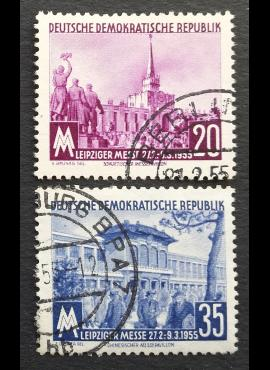Vokietijos Demokratinė Respublika (VDR), pilna serija, MiNr 447-448 Used (O)