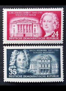 Vokietijos Demokratinė Respublika (VDR), pilna serija, MiNr 382-383 MNH**