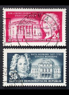 Vokietijos Demokratinė Respublika (VDR), pilna serija, MiNr 382-383 Used (O)
