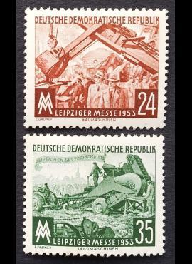 Vokietijos Demokratinė Respublika (VDR), pilna serija, MiNr 380-381 MLH*