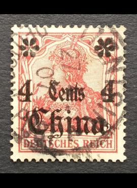 Vokietijos Reichas, Užsienio ir kolonijų paštas, Kinija MiNr 30 Used (O)