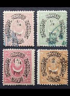 Turkija (Osmanų Imperija), MiNr 22-25 Used (O)/MNH**