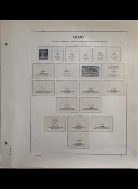Memel, iliustruoti albumo lapai SCHAUBEK