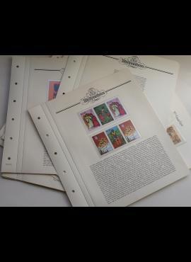 Kalėdos - teminė kolekcija ant iliustruotų albumo lapų