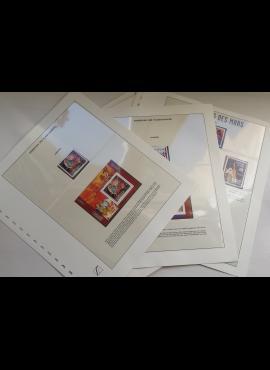Kosmoso užkariavimas - teminė kolekcija ant iliustruotų albumo lapų