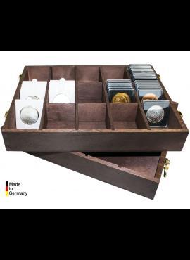 Dėžutė monetoms holderiuose ar kapsulėse Carree LINDNER 2245