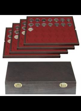 Medinė dėžutė 2 eurų monetoms kapsulėse LINDNER Carus 2494-11