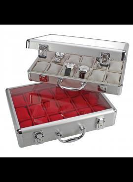Laikrodžių ir juvelyrinių dirbinių lagaminas SAFE Maxi-Red 266-1