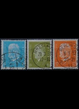 Vokietijos Reichas, pavienis ženklas plius pilna serijaMiNr 454, 465-466Used(O)