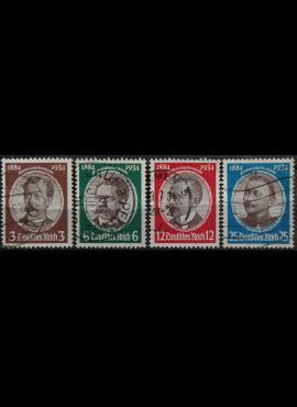 Vokietijos Reichas, pilna serijaMiNr 540-543 Used(O)