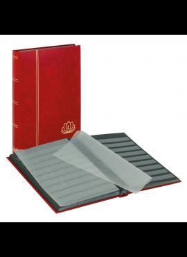 LINDNER Lotos, raudonas, 32 puslapių albumas pašto ženklams 5702-R