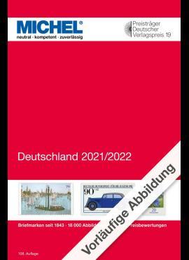 Vokietijos pašto ženklų katalogas MICHEL 6002-2021
