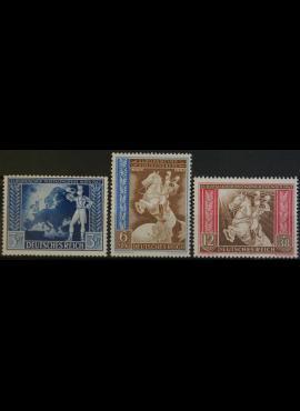 Vokietijos Reichas, pilna serija, MiNr 820-822 MLH*/MH*