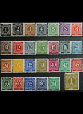 Pokario Vokietija, Sąjungininkų zona, pilna serija, MiNr 911-937 MNH**