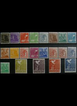 Pokario Vokietija, Sąjungininkų zona, pilna serija, MiNr 943-962 MNH**