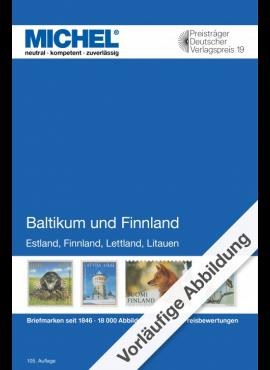 Baltijos valstybių ir Suomijos 2020/2021 pašto ženklų katalogas MICHEL 6085-2-2020