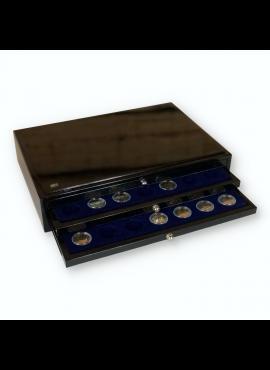 Kolekcijų dėžė su stalčiais 2 eurų monetoms kapsulėse SAFE 6591