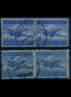 Vokietijos Reichas, oro paštas, MiNr 1 A, B Used(O)